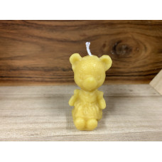 Little Bear Girl Beeswax Candle