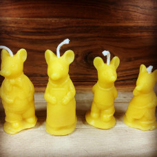 Mrs. Potter Cat Family Beeswax Candles
