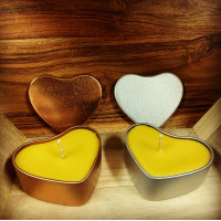 Heart in a Tin Beeswax Candle