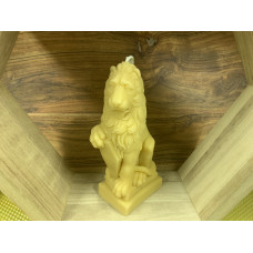 Large Lion Beeswax Candle