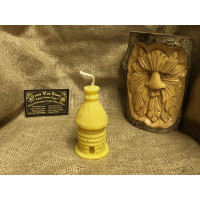 Traditional Bee Skep Beeswax Candle