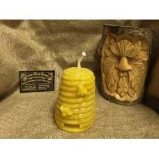 Large Bee Skep Beeswax Candle