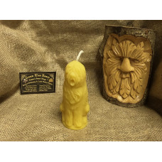 Old English Sheepdog Beeswax Candle