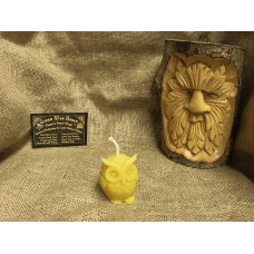 Little Owl Beeswax Candle