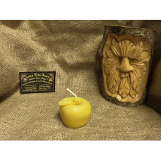 Little Apple Beeswax Candle