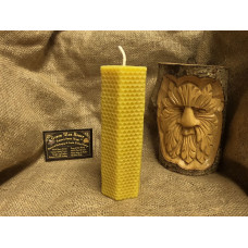 Large Hexagonal Honeycomb Beeswax Candle