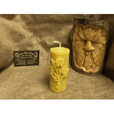 Medium Floral Honeycomb Beeswax Candle
