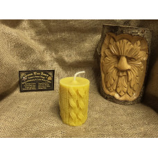 Knitted Beeswax Candle