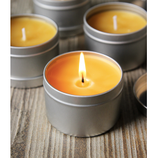 Scented Beeswax Candle In A Tin