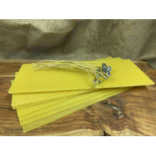 Hand Rolled Beeswax Candle DIY Set Medium