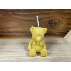Little Teddy Bear Beeswax Candle
