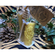 Floral Honeycomb Beeswax Candle Gift Set