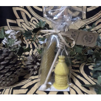 Traditional Bee Skep Beeswax Candle Gift Set