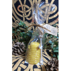 Large Bee Skep Beeswax Candle Gift Set