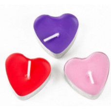 5 Heart-shaped Beeswax Tea Lights