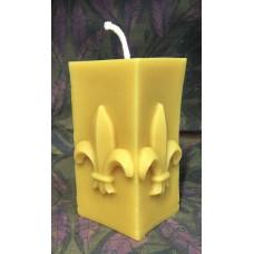 Fleur de Lys Beeswax Candle